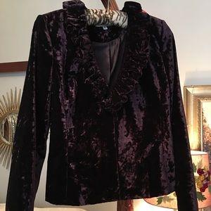 Bloomingdales Deep Purple Crushed Velvet Jacket
